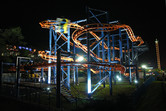 Kaeson fun fair's brand new roller coaster