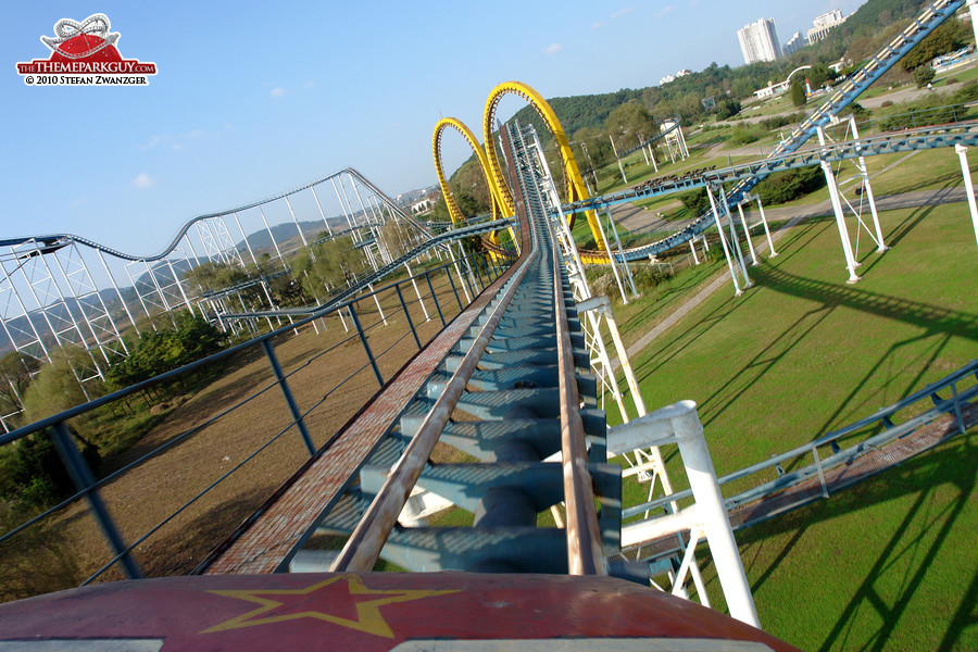 The coaster ride, it's actually not scary!