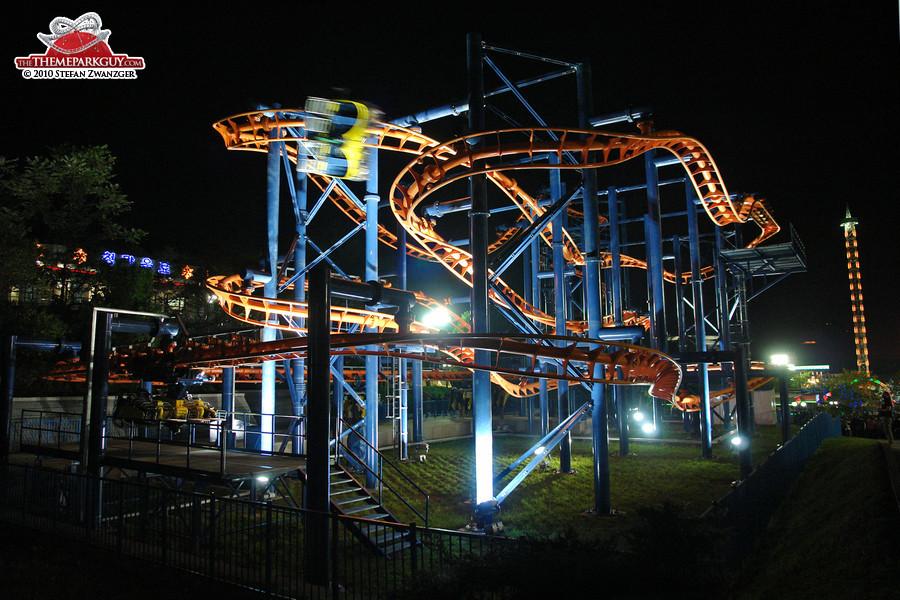 Kaeson fun fair's brand new roller coaster