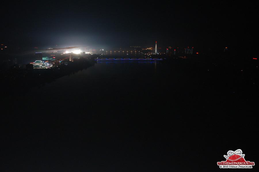 Pyongyang at night. No electricity.