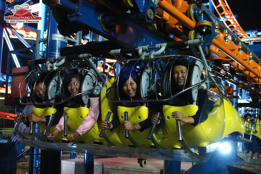 North Koreans in their favorite roller coaster