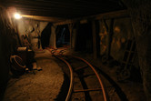Charming indoor sections of the mine coaster