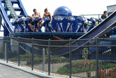 'Invader', a turning, W-shaped mini-coaster (manufactured in Italy and called Disko'O)