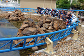 Motorbike-shaped launch roller coaster