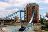 Atlantis water ride/coaster hybrid