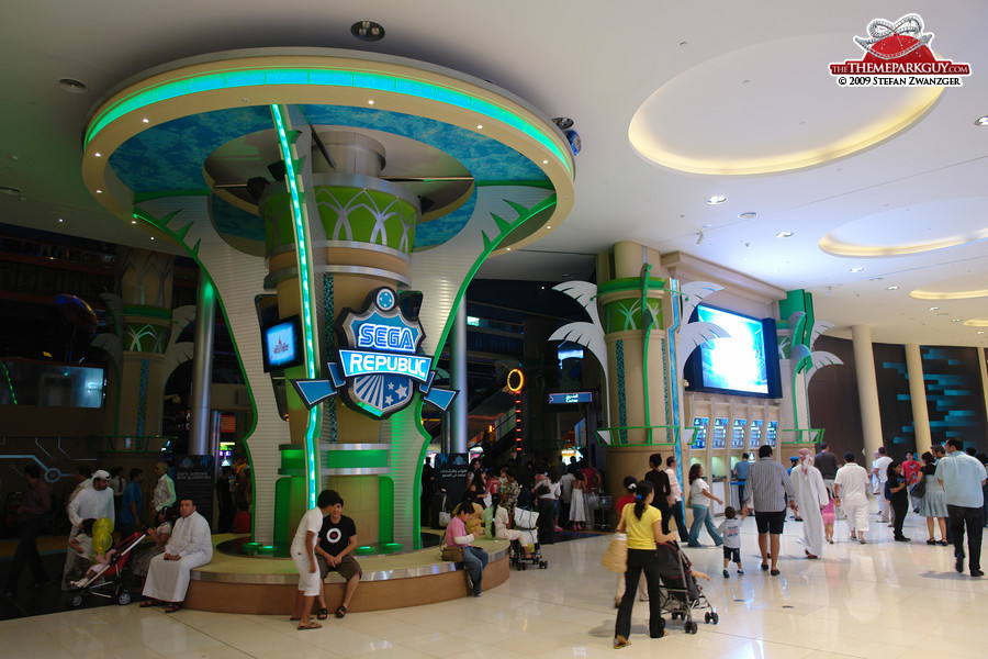 Sega Republic indoor theme park inside Dubai Mall