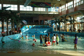 Indoor pools - there is no further slide in the park!