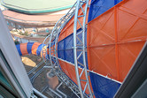 View from the slide tower staircase