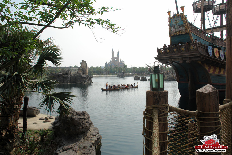 Nice angle, but Shanghai Disneyland is much less scenic than it appears here