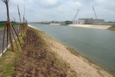 The completed moat surrounding the Shanghai Disney site