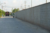 Berlin Wall separating East and West? Not so! This one is separating reality from fiction.