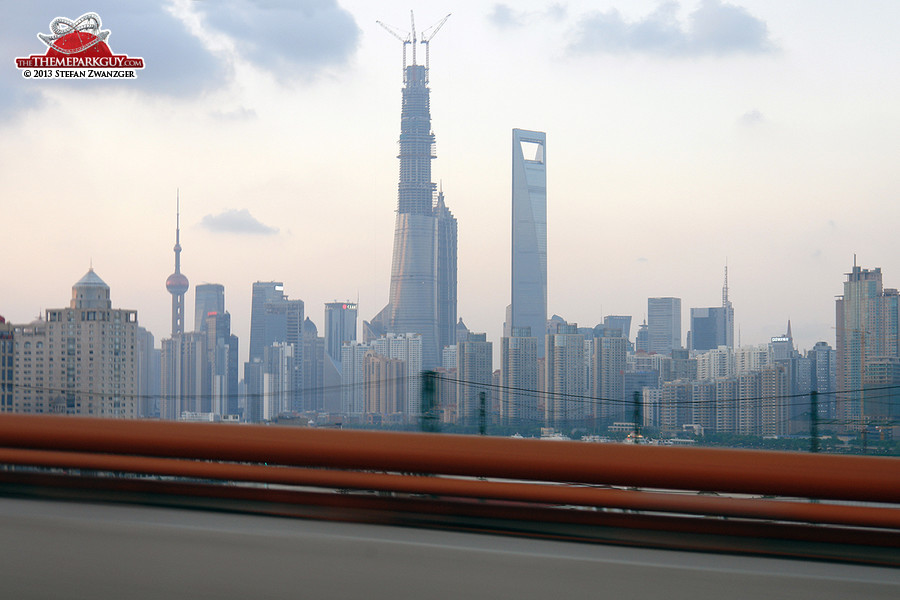 Shanghai Pudong skyline as of September 2013