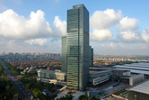 The Shanghai Disney city office resides inside this skyscraper