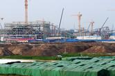 Tron roller coaster under construction