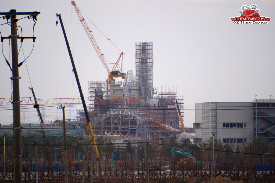 Shanghai Disneyland castle from a different angle
