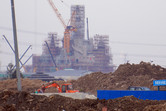 Shanghai Disneyland castle frontal view