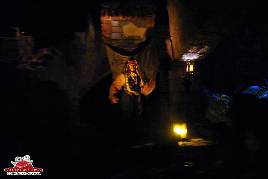 Jack Sparrow cross-eyed at Shanghai Disneyland