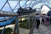 Tron motorbike roller coaster