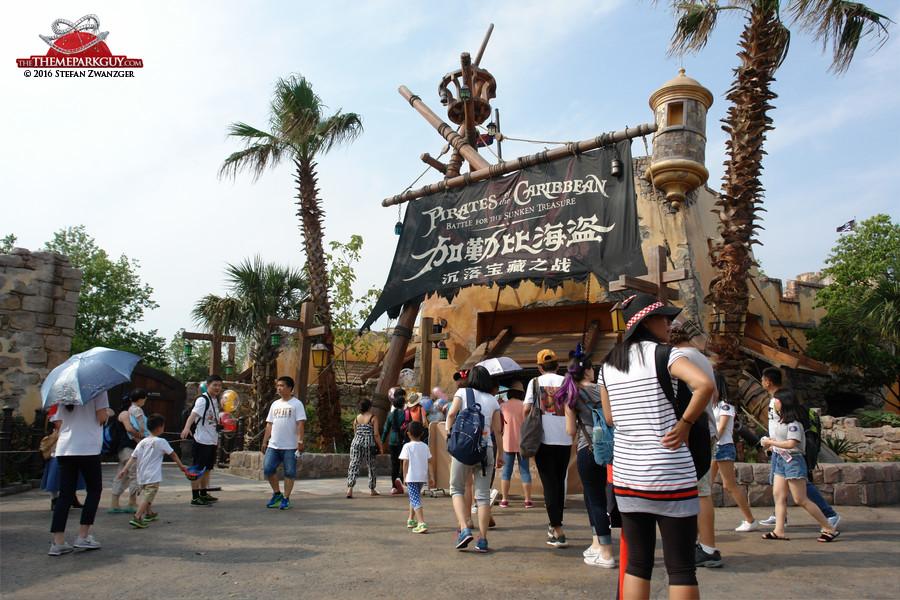 Shanghai Disney's unique Pirates of the Caribbean ride