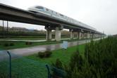 The high-speed Maglev train passes through Chuansha