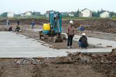 Work is progressing around the site office