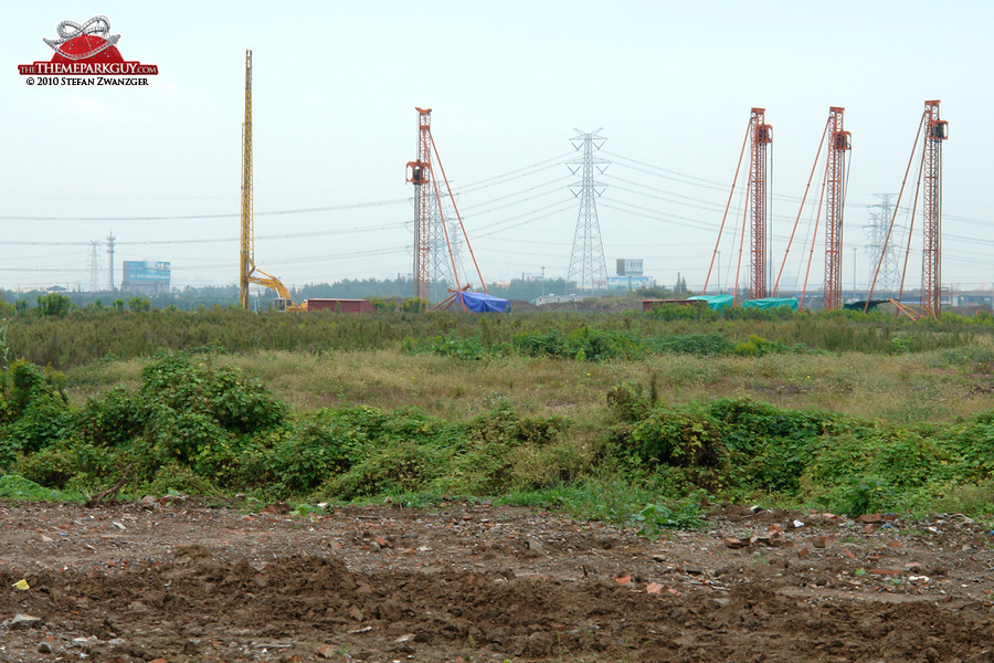 Cranes on-site
