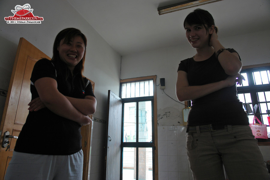 Thanks for your help, Rada (on the right, speaks Mandarin)!