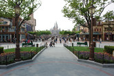 Shanghai Disneyland castle view from Mickey Avenue