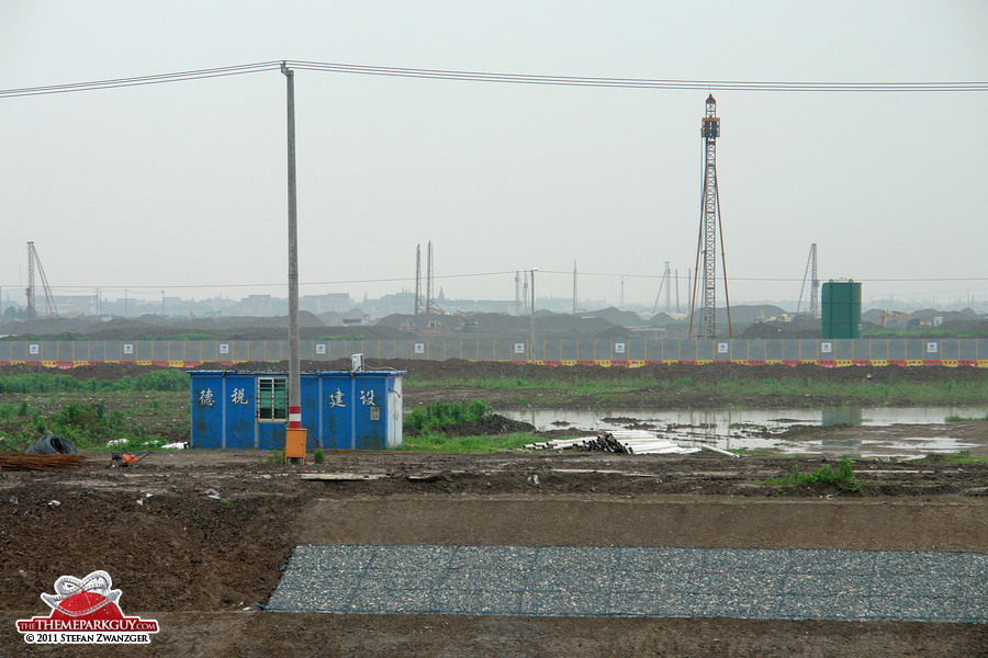 Shanghai Disneyland site in June 2011
