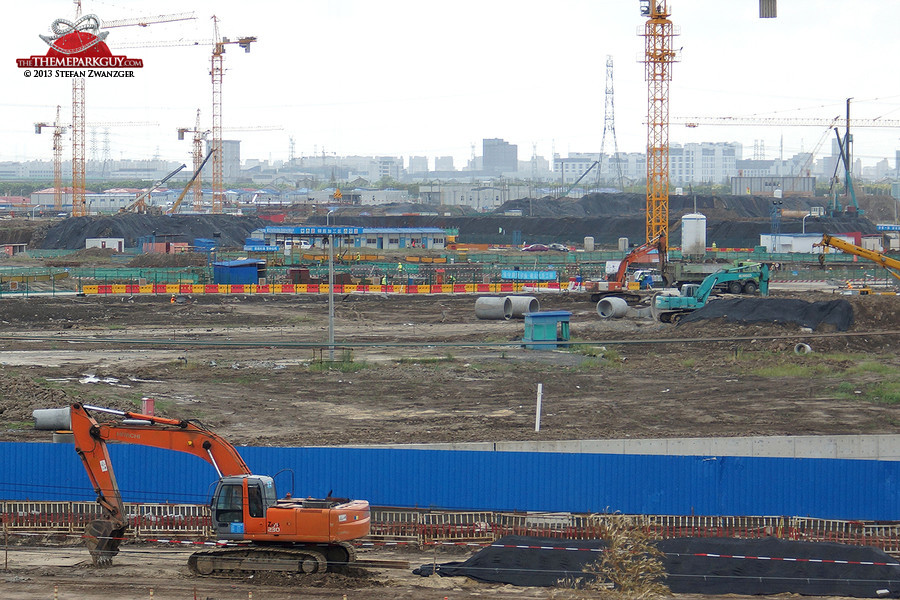 Shanghai Disneyland theme park construction site, September 2013