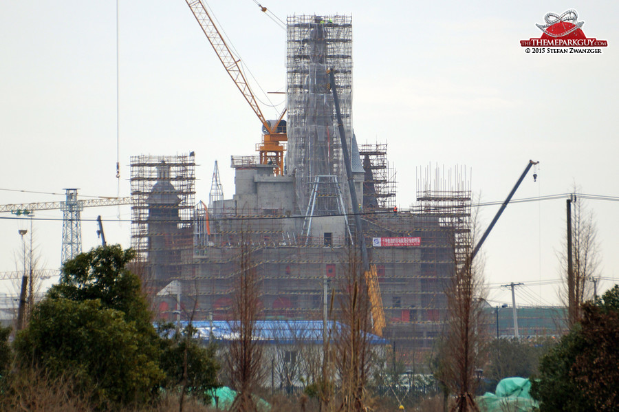 The Shanghai Disney castle as of today