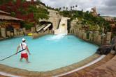 Rafting slide exit