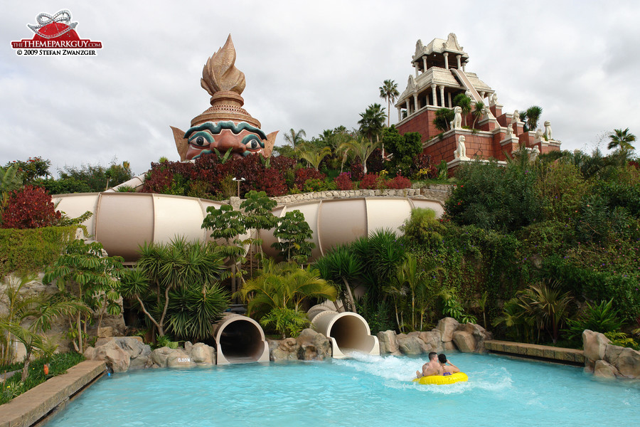 Siam Park pair of bowl slides