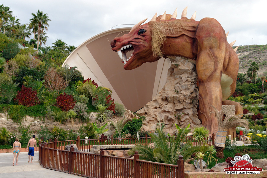 Siam Park's signature funnel slide Dragon