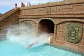 Splash pool after a smooth, rocketing descent