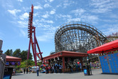 This suspended roller coaster gets you vertical