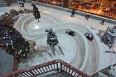 Little Emiratis on a snow slide
