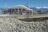 Fisht Olympic Stadium under construction