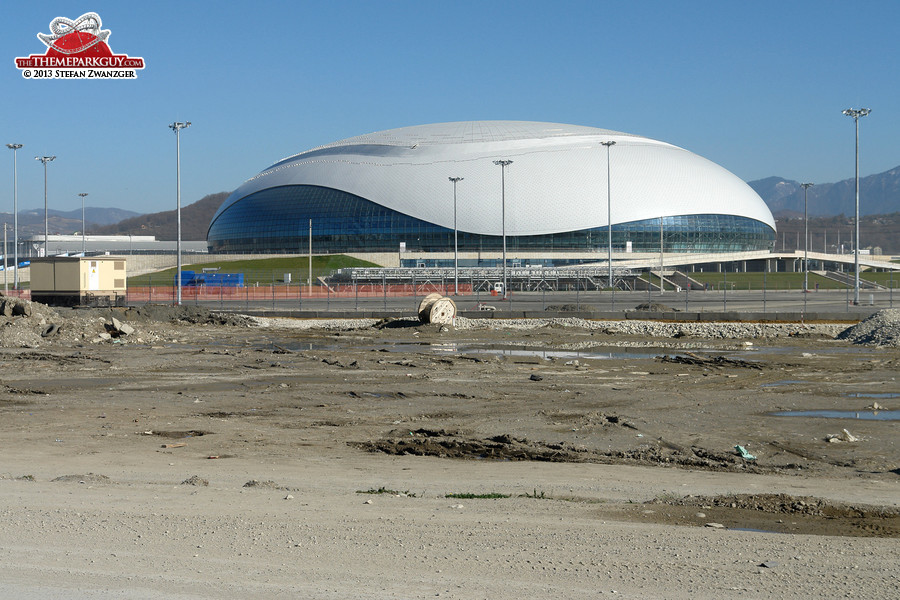 The Bolshoy Ice Dome on the Olympic site