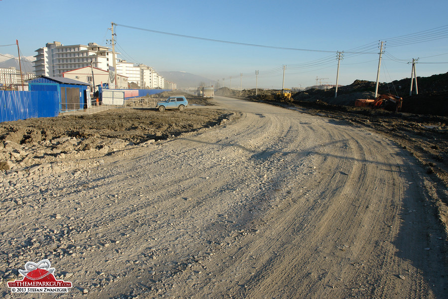 Road through Sochi-Park territory