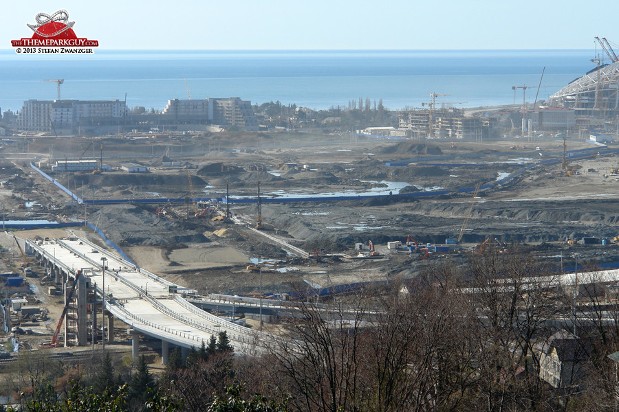 ... and the Sochi-Park site on the left