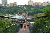 Giant suspension bridge
