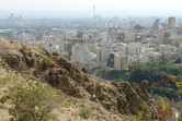 Tehran view from the mountains in the north of the city