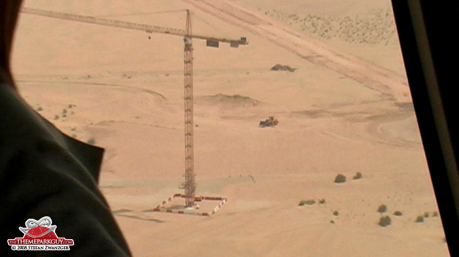 This crane disappeared shortly after