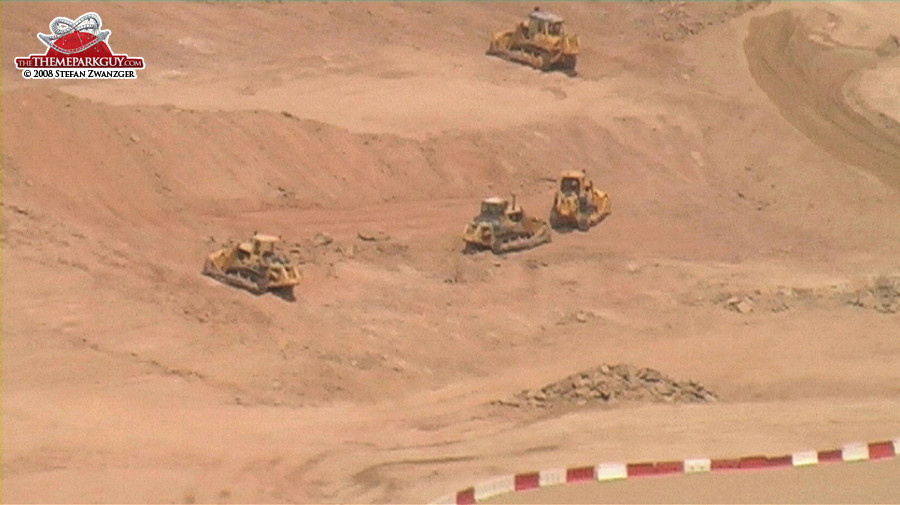 Bulldozers in action