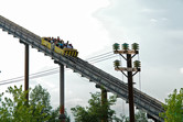 Shoot-the-Chutes splash ride lift hill