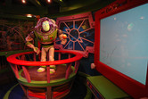 In the Buzz Lightyear's Astro Blasters queue