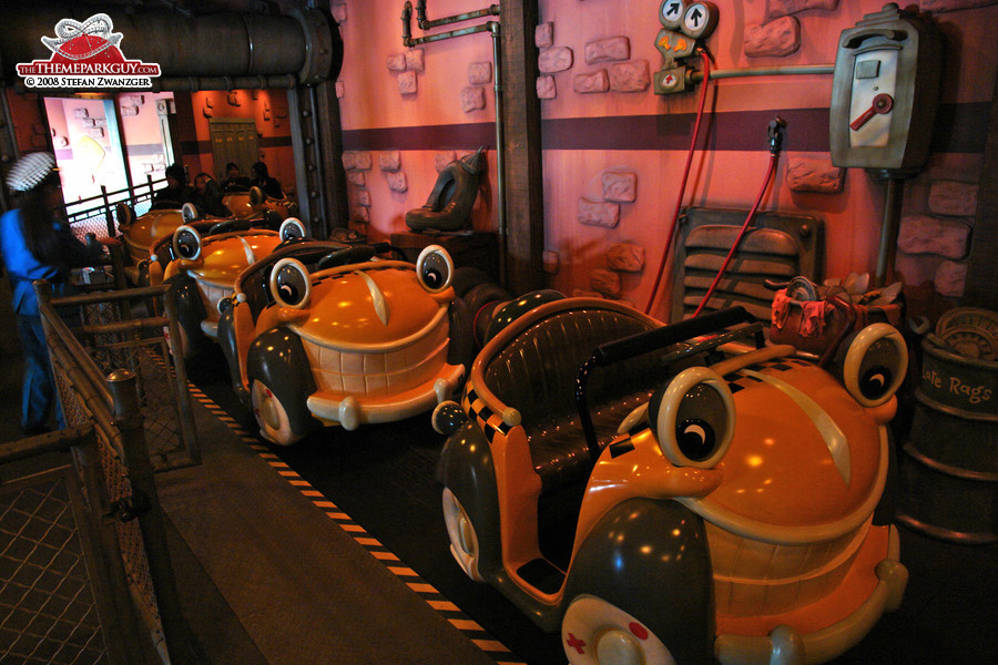 Roger Rabbit ride vehicles
