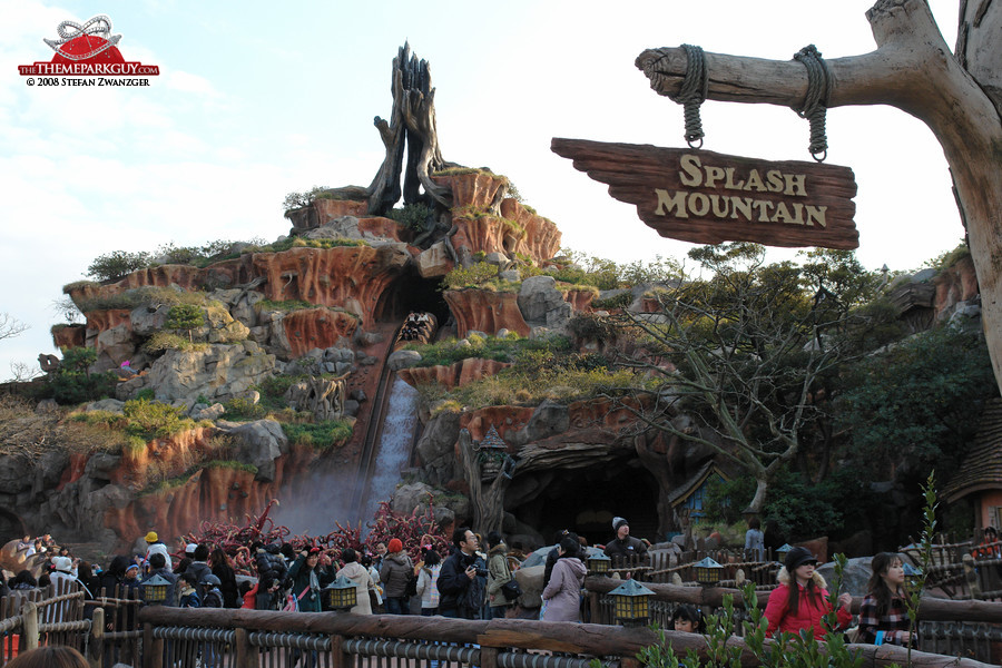 Log Flume Disney Splash Mountain Log Flume Ride