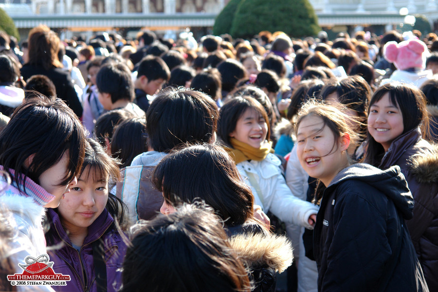 Smiling Japanese Disney fans